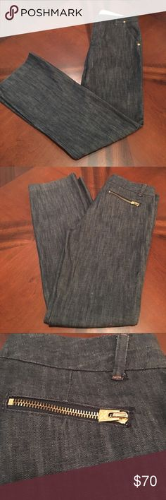 A|X Armani Exchange Jeans Beautiful A|X Armani Exchange Jeans blue jeans with logo hardware zippers on both back pockets. I've never seen another pair like these. A/X Armani Exchange Jeans Flare & Wide Leg
