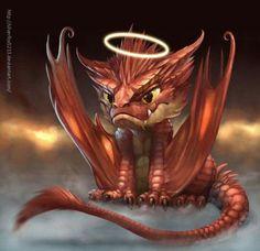 Dragon Hatchling Egg Baby Babies Cute Funny Humor Fantasy Myth Mythical Mystical...