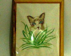 quadro gato siamês