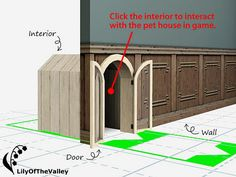 My Sims 3 Blog: LilyOfTheValley's Under Stairs Pet House