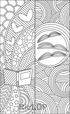 Coloring sheets, adult coloring pages, doodle lettering, printable coloring Adult Coloring Pages, Coloring Sheets, Coloring Books, Diy Y Manualidades, Diy Bookmarks, Letter Size Paper, Printable Coloring, Book Design, Bunt