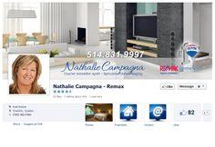 Facebook de Nathalie Campagna #REMAX #Facebook #courtier #immobilier