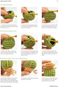 Decrease Amigurumi Crochet : Crochet surface stitching // Kristi Tullus (sidrun.spire ...