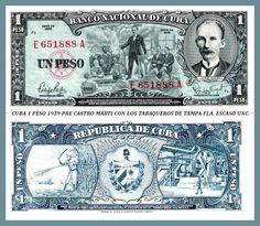 Cuba 1 peso 1959 Jose Marti