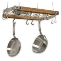 Brunswick Ceiling Pot Rack Natural You've just found the perfect pot rack for small kitchens, apartments, or small pan collections. This wooden frame Brunswick Ceiling Pot Rack Natura Pot Rack Hanging, Hanging Pots, Hanging Organizer, Kitchen Dining, Kitchen Decor, Kitchen Ideas, Kitchen Island, Kitchen Upgrades, Ideas