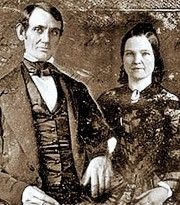 Wedding day photograph. Abraham and Mary Lincoln, November 4, 1842.