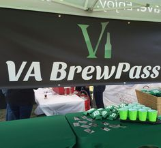 We have VA Brew Pong set up at the Fredericksburg Brew Fest. Come on out for a chance to win a #VABrewPass.  #VABeer #festival
