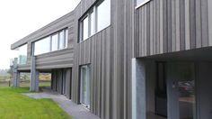 Cape Cod Cladding. 3 Grey Colour House. Profile: ex 150mm Euro Channel. Colours: CCS72218, CCS72217 & CCS72216