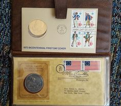 Stamps, coins, posters, correspondence. Large lot of collector's stamps, some coins, several posters, personal letters from early 1900's. Some stamps including Golden Replicas of United States stamps, First Day Covers, Commemorative Stamp Collector Panels (five boxes/bins-see photos)