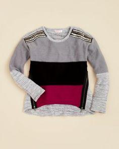 Design History Girls  Color Block Sweater - Sizes S-XL Kids - Girls - Girls  7-16 - Bloomingdale s c4b3b7b7b