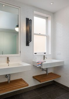 Pacific Avenue transitional-bathroom