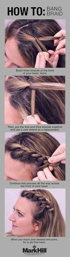 French braiding any portion of your hair will basically make you look way more together. Mark Hill Salon has step-by-step instructions.