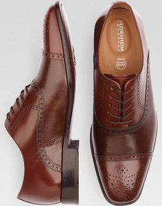 Florsheim Imperial Brown Cap Toe Lace-Up Shoes - Dress Shoes | Men's Wearhouse