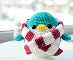 snuggles the amigurumi crochet penguin with scarf