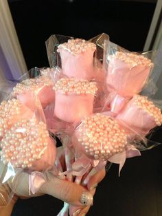 Edible chocolate dipped Marshmallows