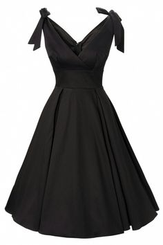 Pinup Couture - Tie Me Up dress in Black sateen Deadly Dames. Love the shape, this would be a perfect LBD. Pretty Outfits, Pretty Dresses, Beautiful Outfits, Cute Outfits, Gorgeous Dress, 40s Mode, Retro Mode, Retro Chic, Vintage Dresses