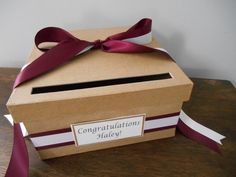 Rustic Wedding Card Box. Graduation Card Box You by astylishdesign