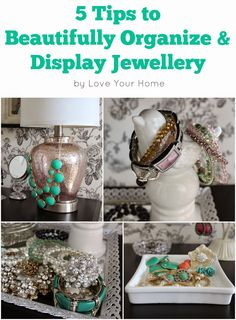 5 Tips to Beautifully Organize & Display Jewellery Organizing, Organization, Love Your Home, Dream Decor, Jewellery Display, Vanities, Bracelet Watch, Decorating Ideas, Posts