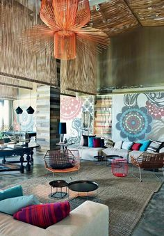 Get this home decor look on purehome.com - All about color - W Vieques, Puerto Rico, designer Patricia Urquiola. AD Russia http://www.admagazine.ru/arch/36418_12-samykh-interesnykh-oteley.php#artheader