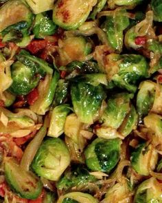 Happy Canadian Thanksgiving! Here's my Brussel sprouts and bacon side dish. Video recipe on YouTube.