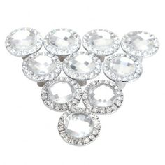 Set of 10  Free shippsing 10PCS/Pack  Round Pull Handle Crystal Rhinestone Knob for Cupboard Drawer Gold $23.27