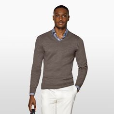 Daily pick: The taupe V neck.