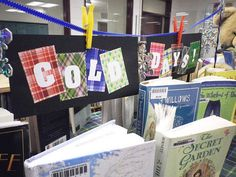 """""""Warm Books for Cold Days"""" Library Book Display (more photos available at http://www.flickr.com/photos/vblibrary/sets/72157628917518735/with/6716837503/)"""