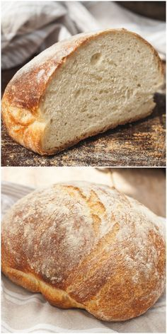 No Knead Farmhouse Bread-such simple recipe that even the newest baker will be able to bake this bakery style bread. No Knead Farmhouse Bread-such simple recipe that even the newest baker will be able to bake this bakery style bread. Bread Machine Recipes, Bread Recipes, Farmhouse Bread Recipe, Pain Artisanal, No Knead Bread, No Rise Bread, Yeast Bread, Bread And Pastries, Artisan Bread