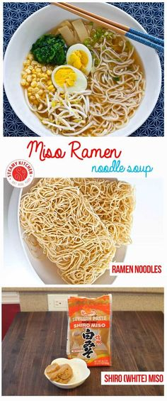 Miso Ramen Recipe - you can make this is 25 minutes! via @steamykitchen