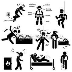 Iş güvenliği ekipmanları vektörler ve grafikleri | Depositphotos®