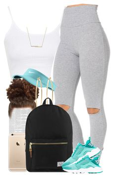 """""""Summer AF. ☀️"""" by livelifefreelyy ❤ liked on Polyvore featuring Topshop, NIKE, Brooks Brothers, Herschel Supply Co. and ZoÃ« Chicco"""