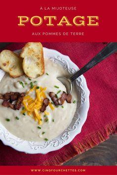 Potage aux pommes de terre ! Réconfortant ! #patates #pommesdeterre #potage #soupe #bacon #automne #soup #fromage #easyrecipe #mijoteuse #crockpot #recette