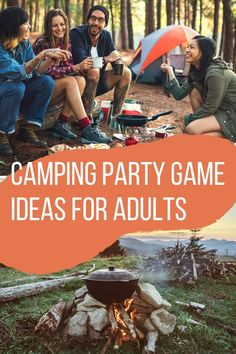 Cool Camping Games for Adults to Play - Peachy Party Camping Games Adults, Camping Drinking Games, Camping Party Games, Funny Party Games, Summer Party Games, Summer Camp Games, Adult Party Games, Adult Games, Rally Games