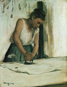 [ D ] Edgar Degas - The Laundress (1883)