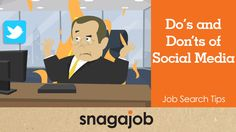 Job Search Tips (Part Do's and Don'ts of Social Media Digital Footprint, Job Search Tips, Search Video, Social Media Tips, Stuff To Do, Family Guy, Student, Marketing, Searching