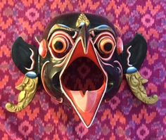 This stunning mask was purchased in a fine arts gallery in Ubud in It was made by renowned mask carver, I Wayan Muka. I will give you a darling monkey mask to keep the monster. Monkey Mask, Indonesian Art, Fine Art Gallery, Bali, Unique, Art Gallery