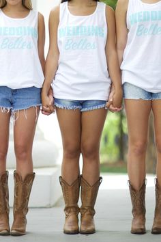 Wedding Belles: Bridesmaid Tank - Kiss My Southern Sass