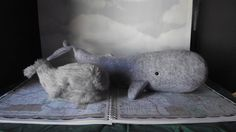 Sperm Whale Stuffed Fish Animal Pattern to Sew, so cute!!