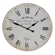 Large Grand Chateau Hotel Wall Clock Garden Furniture, Bedroom Furniture, Boutique Furniture from Optimal World
