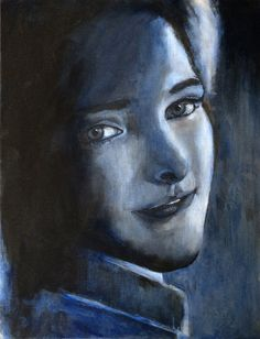 Portrait of Hanny by Janet Plantinga. Acrylic and oil on board, 30 x 40 cm SOLD