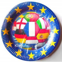 6 Assiettes Football Euro 2016
