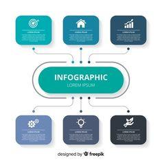 infographic design template Free Ve. Chart Infographic, Process Infographic, Infographic Powerpoint, Timeline Infographic, Infographic Templates, Layout Design, Graphisches Design, Logo Design, Business Presentation