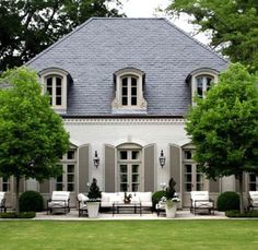 French country exterior, french country house, mansions homes, veranda, c. French Country Exterior, Country Home Exteriors, French Country Dining, Modern French Country, French Country Cottage, French Country Decorating, Country Style, French Countryside, House Exteriors