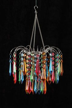 Multi Rainbow Star Chandelier