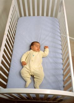Do you know the ABC's of safe infant sleep? Baby should sleep Alone, on his Back, and in a Crib that looks like this.
