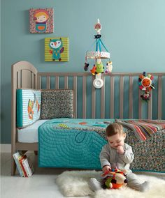 Timbuktales - Boys Cotbed Coverlet - Timbuktales Boys - New - Mamas & Papas