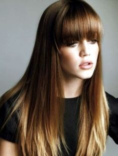 Medium Brown With Auburn & Pale Blond Ends, thinking about doing this next!