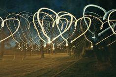 heart light trails