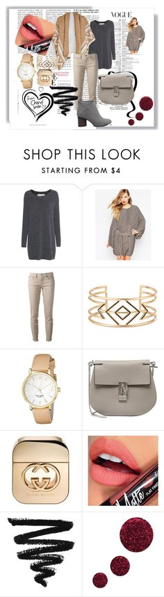 """#1"" by berbicazemina ❤ liked on Polyvore featuring Fine Collection, ASOS, Tory Burch, Stella & Dot, Kate Spade, Chloé, Gucci, Fiebiger and Topshop"