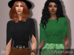 Auriana Top for The Sims 4